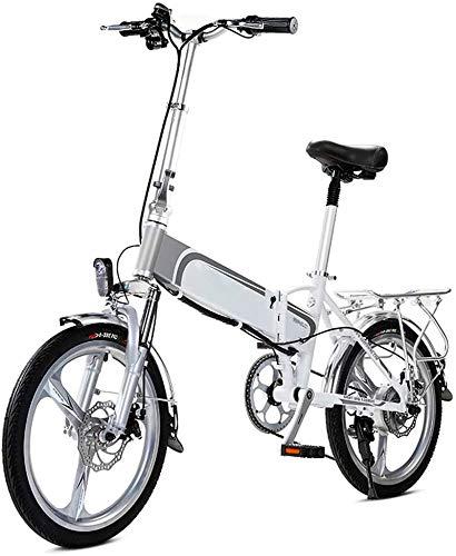 Alta velocidad Bicicleta eléctrica, de 20 pulgadas Soft Tail bicicletas plegables, 36V400W...