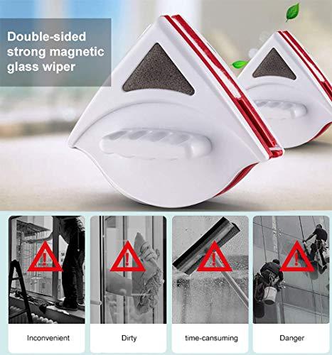 LONG-A Magnetische Fenster Glas Reinigungsbürste Glas Cleaner Tool Doppel Seite Wiper Nützlich Oberfläche Bürstenreinigung Werkzeuge