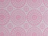 Fablon Fine Décor Rotolo di Pellicola autoadesiva per Decorazioni, Motivo Tessuto Ricamato, da 45 cm x 2 m, Colore: Rosa