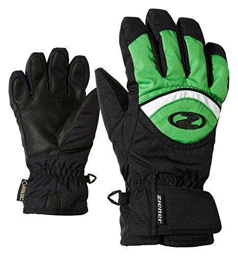 Ziener Kinder Largo GTX(R) Glove junior Handschuh, Black.Signal Green, 6