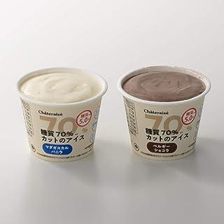 シャトレーゼ 糖質70%カットのアイス 2種16個入 バニラ チョコ 詰合せ 糖質5.0g 糖質制限 糖質オフのアイス リニューアル