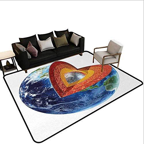MsShe Superior hal tapijt Nederlands, Blauw Toned Traditionele Delftware Patroon Abstract Sierbloemen Schalen, Indigo en Wit
