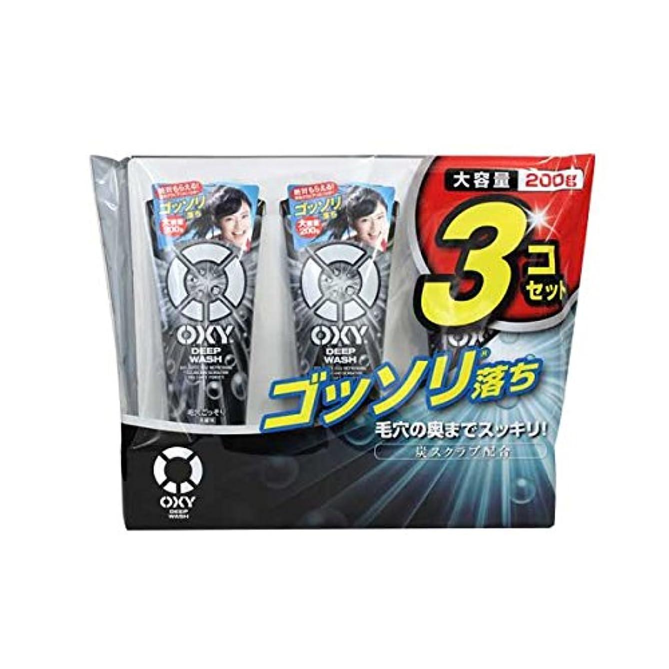 白内障裏切り顕現OXY 炭スクラブ洗顔料 大容量 200gx3本