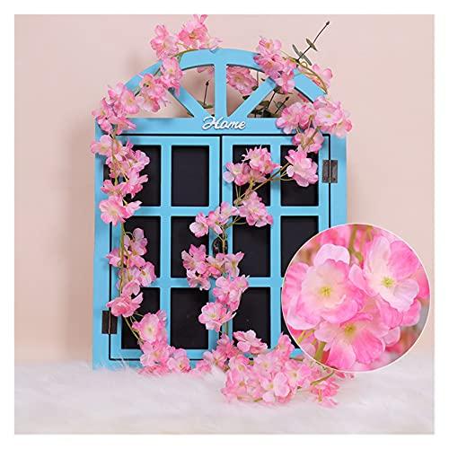 WANGJBH Dried Flowers Sakura Cherry Blossom Rattan Arch De Mariage Décoration Vigne Fleurs artificielles Accueil Decor de la Soie DIY Silk Ivy Wall Hang Guirlande Potpourri (Farbe : No.3)