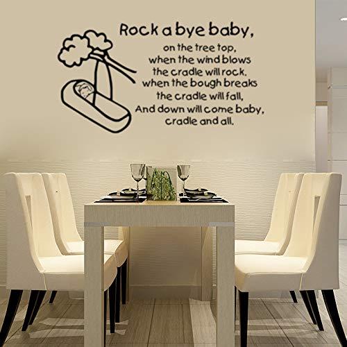 JXND Cradle Baby Rock a Bye Sticker Mural Environnement bébé 42x77cm