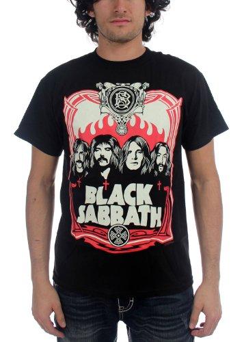 Black Sabbath - - T-shirt pour homme Red Flames in Black, XX-Large, Black