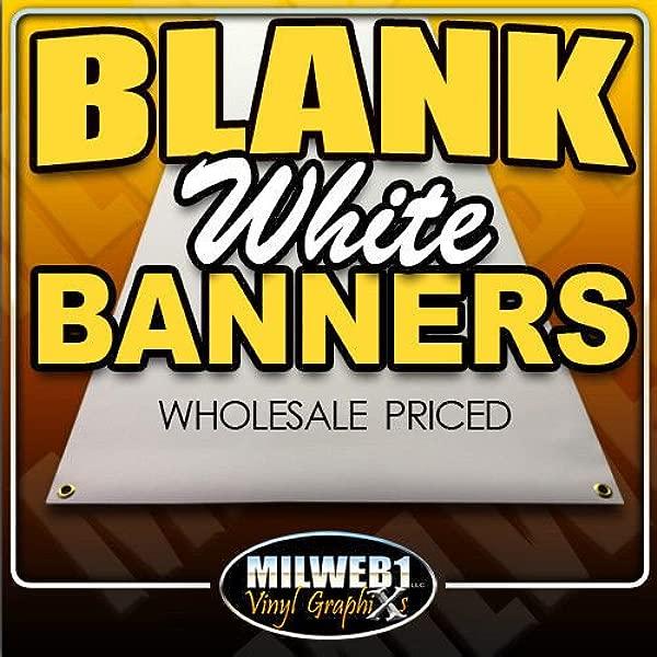2 X6 Blank White Vinyl Banner Grommets 13oz