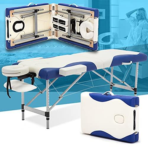 Inconnu Lit de Massage Portable 8 réglables en Hauteur, Table de Massage en 2 Sections, Table de...