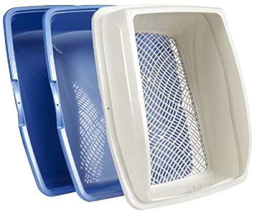 lg litter boxes SKEMIX Sifting Cat Pan Litter Box with Frame Kitty Van Ness CP5 Easy Clean:New