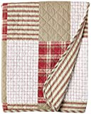 Eddie Bauer Home Camino Island Collection Quilted Throw-100% Cotton, Reversible & Lightweight, 50' x 60'