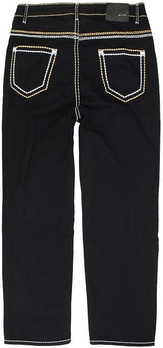 Lavecchia LV-503 Jean grand format pour femme Noir Profond