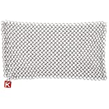 """Knapp Made CM Scrubber 9"""" Small Ring Chainmail Scrubber - for Cast Iron, Stainless Steel, Hard Anodized Cookware and Other Pots & Pans - Cast Iron Cleaner - Multiple Sizes (9"""" x 6"""")"""