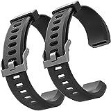 ZURURU Veryfitpro ID115Plus HR Replacement Bands for Veryfit Pro ID115Plus HR Fitness Tracker Smart Watch (Black+Black)