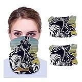 Quad Bike Extreme Tipografía para camiseta Estampado Motocicleta Diadema Bandanas Escudo para la cara Sombreros Cara Bufanda Máscara Pasamontañas Cuello Polaina Headwrap 2pcs