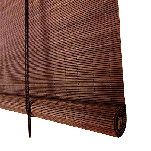 WENZHE Roller Blind Bamboo Curtain Blinds Waterproof Mildew Proof Outdoor Indoor Home, 4 Colors, Size Customizable (Color : 1#, Size : 50x110cm)