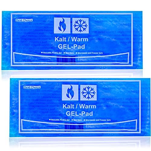 Selldorado 2X Compresas frías y Calientes Premium de Material Natural Puro, Grandes Almohadillas refrigerantes para la aplicación de frío/Calor, 29 x 12 cm -microondable (2 Piezas)