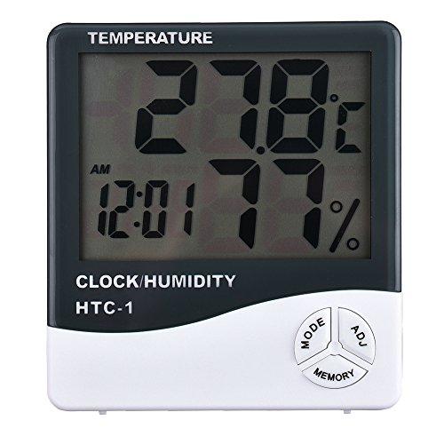 Yunt Thermometre Hygrometre Digital Intérieur Afficher Temperature/Humidité Précision en Degré C ou Degré F