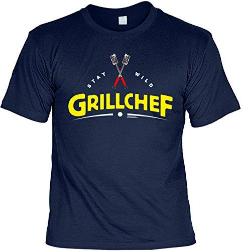 T-shirt Stay wild grillchef grill T-shirt cadeau-idee grillen barbecue party cadeau voor het barbecueseizoen