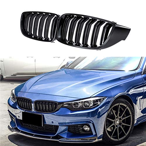Front Center Kidney Grille Grill Replacement for BMW 4 Series 2013-2018 428i 430i 435i 440i F32 F33 F36 F80 F82 F83 (Gloss Black)