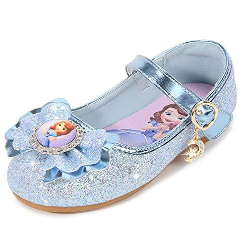 AIYIMEI Disfraz Princesa Zapatos Sofía Zapatos de Lentejuelas Antideslizante Niñas Zapatos de...