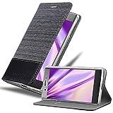 Cadorabo Coque pour Sony Xperia XZ1 en Gris Noir - Housse Protection avec Fermoire Magnétique,...