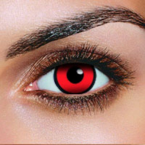 "MYSALENS® Lentilles De Contact De Couleur Manson Rogue ""Red Manson"" (sans correction)"