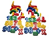 Play Dough 48 Piece Clay, Cookie Dough Cutters - 3 Inch Tall Numbers, Symbols, Animal Molds, Clay...