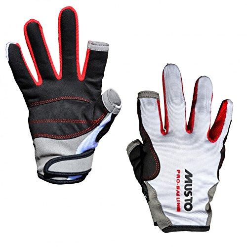 Musto Essential Sailing Long Finger Handschuhe - Unisex Weiß - Perfekt für Segeln und Segeln mit Easy Movement und Grip