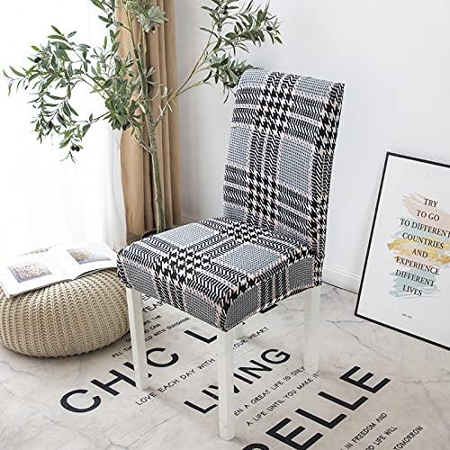 MMHJS Diseño Elástico Simple De La Funda De La Silla, No Es Fácil De Caer, Fácil De Cuidar En Todas Las Estaciones, Lavable