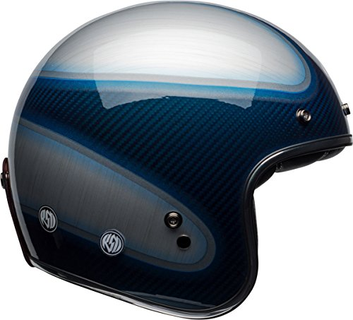 7092610 - Bell Custom 500 Carbon RSD Jager Open Face Motorcycle Helmet S Candy Carbon Blue