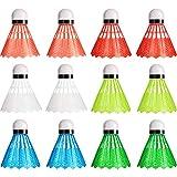 Sumind Badminton in Nylon Volani da Badminton in Plastica dai Colori Vivaci Sport Allenamento di Palline da Badminton per Sport all'Aperto Interno (12)