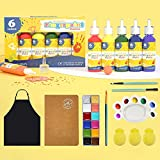 Pinturas para dedos lavables para niños, pintura no tóxica y bombas de baño, pintura para niños juguetes de prejardín de infantes, regalos para cumpleaños de niños, Halloween, Navidad