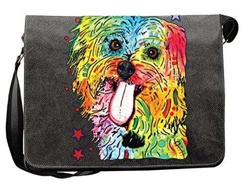 Hunde Motiv Umhängetasche für Hundehalter mit Hunde Tasche Canvas Shih Tzu Hund Hundebesitzer Hundehalter Dog Hunde Artikel Dogs Hundefreund