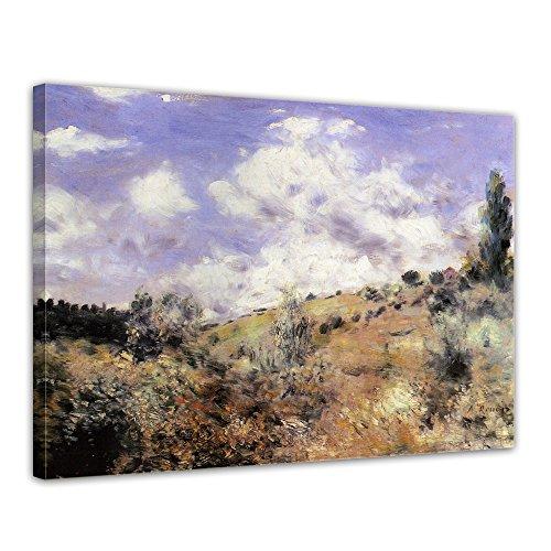 Keilrahmenbild Pierre-Auguste Renoir Starker Wind - 120x90cm quer - Alte Meister Berühmte Gemälde Leinwandbild Kunstdruck Bild auf Leinwand