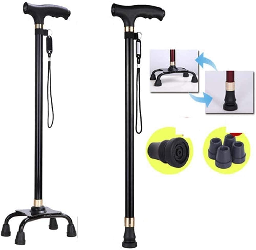 Crutches Adult Special sale item Four-Legged Selling and selling Stable Portable Stick Non-Sli Walking