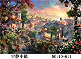KRY Adulto Puzzle de 1000 Piezas Starry Sky Train Fantasy Starry Sky Space Passenger White Peacock Animal Plane Puzzle