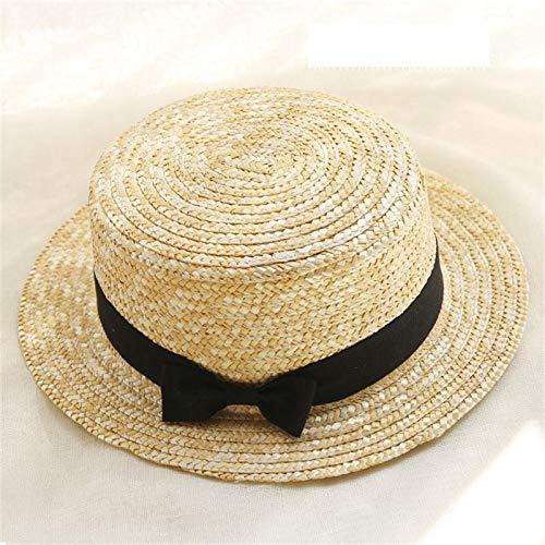 ZXL Hoed hete zomer vrouwen 'S Boater strand hoed vrouwelijk casual panama hoed dames merk klassiek vlak stro zonnehoed vrouwen 56-58CM 3