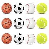 MANSHU 12PCS Mini Sports Stress Balls Fun...