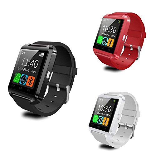 HOMEGO U8 Upgrade Waterproof Bluetooth Wrist Smart Watch - Red