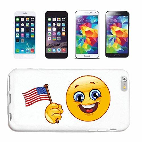 Reifen-Markt Handyhülle kompatibel für iPhone 7 Amerika Smiley MIT Fahne Smileys Smilies Android iPhone Emoticons IOS GRINSE Gesicht Emoticon APP Hardcase Schutzhü