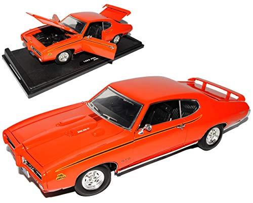 Motormax Pontiac GTO Judge 1969 Coupe Orange Oldtimer 1/18 Modellauto Modell Auto