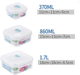 HHQSC Plastic crisper box Meal preparation container with lid, food grade PP storage box, refrigerated storage box, stacka...