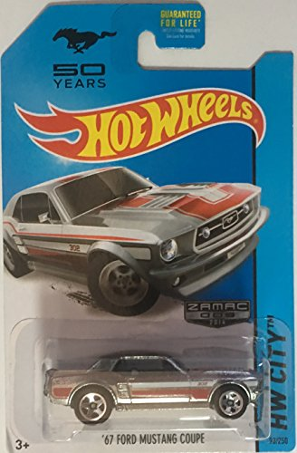 hot wheels \'67 ford mustang coupe ZAMAC 50 years RARE hw city 93/250 zamac 2014 by Hot Wheels