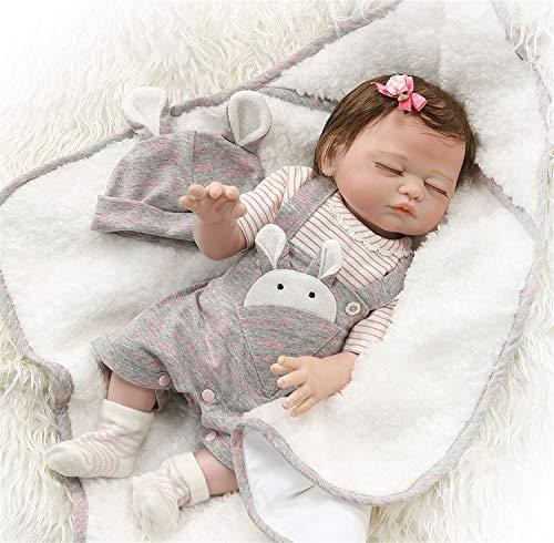 Zero Pam Twins Reborn Babypuppen, Jennifer und Leon, 20 Zoll 50 cm Ganzkörpersilikon, süße lebensechte handgemachte Puppen (Jennifer)