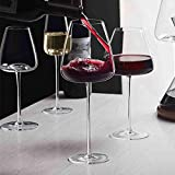 500-600 ml Nivel de colección Hecho a Mano Copa de Vino Tinto Ultra-Delgada Cristal Borgoña Burdeaux Cubilet Art Big Belly Tasting Cup (Color : 650ml)