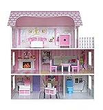 Kiddi Style Viktorianisches Puppenhaus aus Holz – Puppenstube & Holzpuppenhaus mit Puppenmöbel