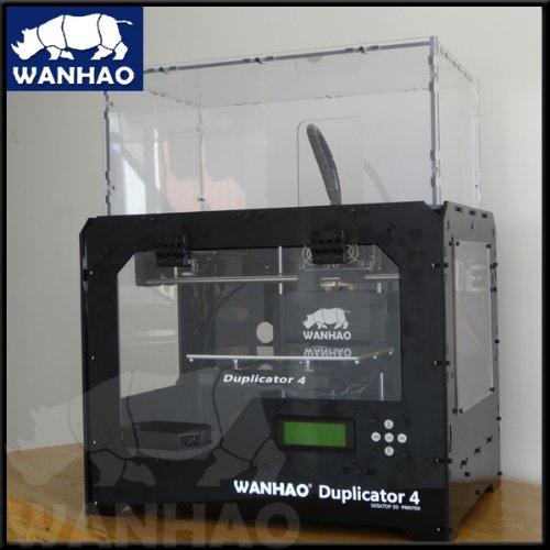 Wanhao Duplicator 4x imprimantes 3d dans transparent case dual Extruder