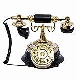 Sxrdz Teléfono fijo para teléfono para el hogar Teléfono Teléfono de dial Rotary Teléfonos de escritorio de línea fija retro, Teléfono con cable para el hogar y la decoración, teléfonos retro creativo