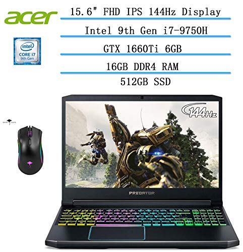"Acer Predator Helios 300 15.6"" FHD Gaming Laptop, GeForce..."
