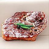 ZHSH Almohada Snlong mantequilla pan carne, hilo de sésamo, pizza, carne, carne, sésamo, carne, almohadas de filete de carne, almohada de felpa, de imitación de comida, cojín de respaldo, 50 cm